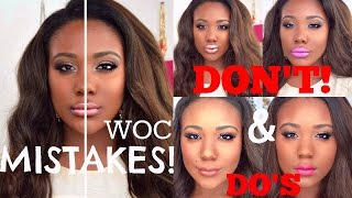 Black Women Lipstick MISTAKES To Avoid + TOP WOC DRUGSTORE LIPSTICKS 2015 (DARK SKIN)