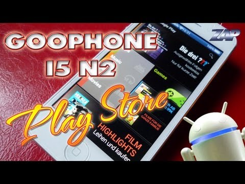 Goophone i5 N2 Google Play Store Hands-on - MT6577 dual-core - iPhone 5 Clone? - ColonelZap