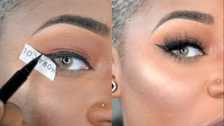 How to do Winged Eyeliner for Dummies | In- Depth Talk Through | Beginner Friendly