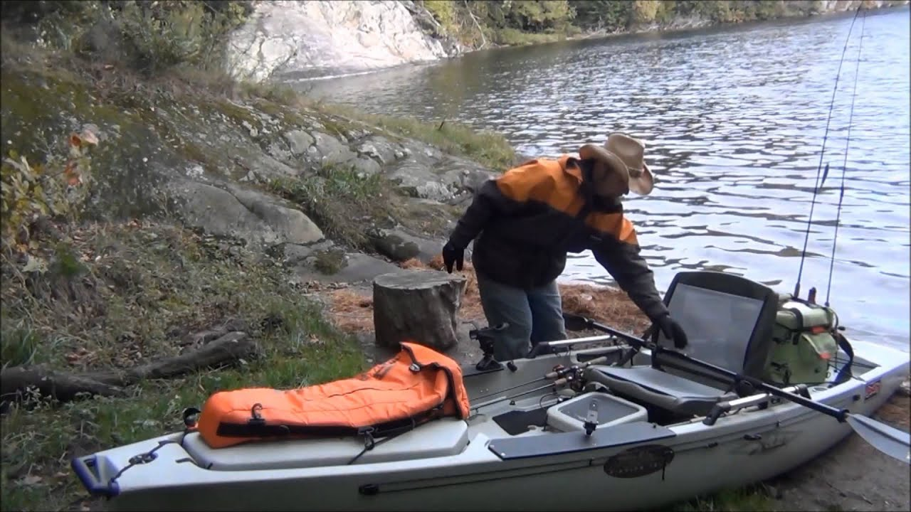 Camping fishing with precisionpak gear by kayak 39 n cowboy for Campsites with fishing