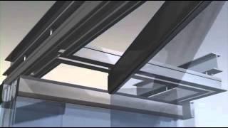 Перегородки стеклянные раздвижные Hufcor(Раздвижные стеклянные перегородки в квартире, в ванную комнату, для душа, в офис. Изготовление и монтаж...., 2015-01-08T12:38:41.000Z)