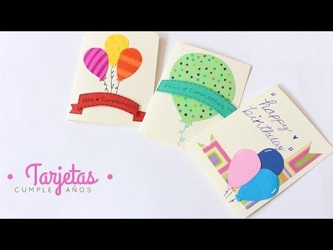 como hacer tarjetas de cumpleaños