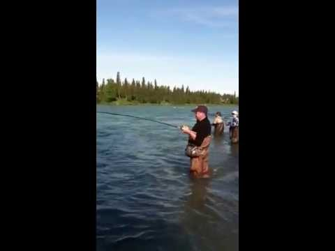 Kenai river sockeye fishing near soldotna youtube for Kenai river fish counts
