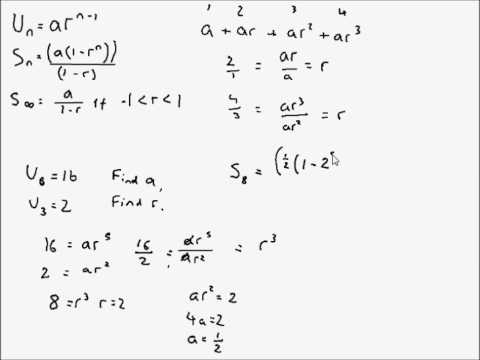 A Level Maths - C2 Geometric Series