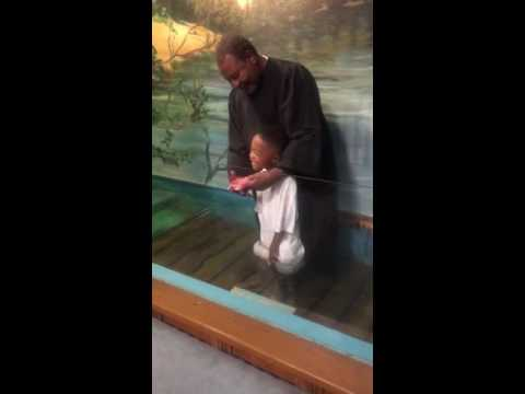My son couldn't wait to get baptized MUST WATCH
