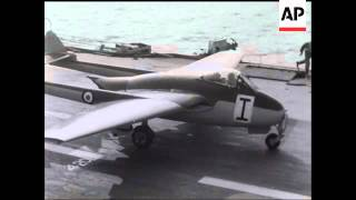 NAVAL AVIATION - Helicopter Squadron and Jet Landing on Carrier