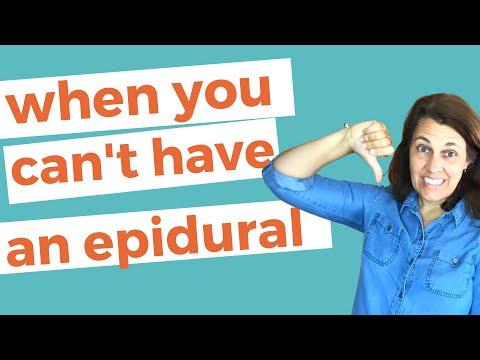 WHEN YOU CAN NOT GET AN EPIDURAL