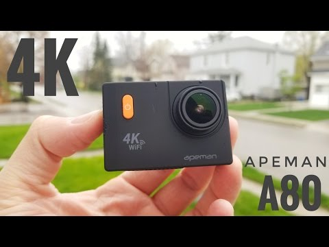 Apeman A80 4K WIFI Action Camera REVIEW & Sample Videos and Pictures