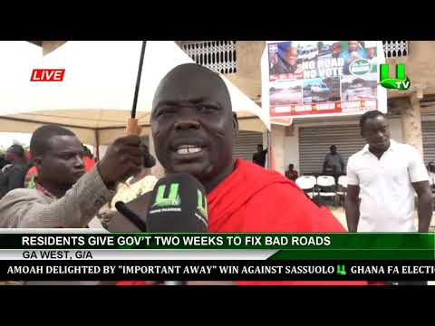Ga West, G/A : Residents Give Gov't Two Weeks To Fix Bad Roads