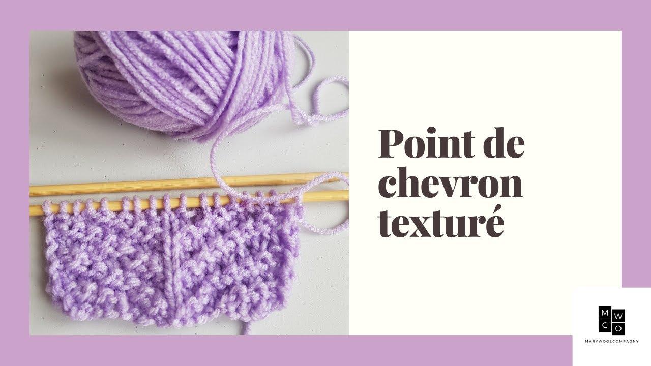 Apprendre le tricot : TUTO POINT DE CHEVRON TEXTURÉ TRICOT FACILE - YouTube