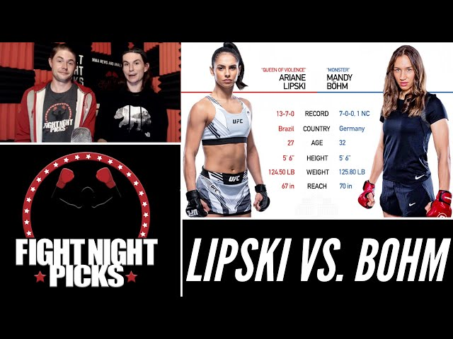 UFC Fight Night: Ariane Lipski vs. Mandy Bohm Prediction