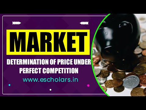 #4 | Market | Determination of price under perfect competition market