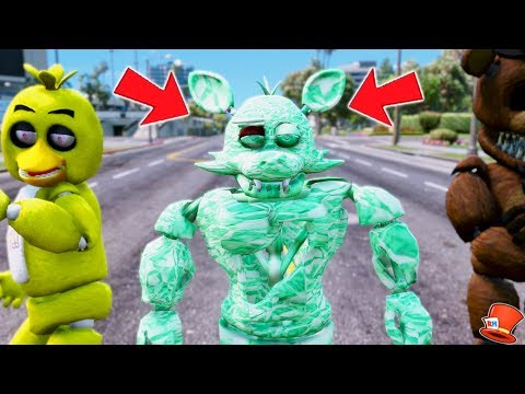 NEW BUFF EMERALD FOXY ANIMATRONIC! (GTA 5 Mods FNAF RedHatter)