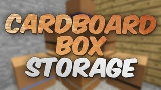 Cardboard Storage Boxes in Minecraft - Boxes Mod Showcase