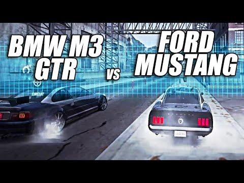 BMW M GTR vs FORD MUSTANG BULLITT   NEED FOR SPEED WORLD
