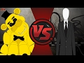 GOLDEN FREDDY vs SLENDERMAN REMATCH! (Slenderman vs Freddy Fazbear 2) Cartoon Fight Club Episode 152
