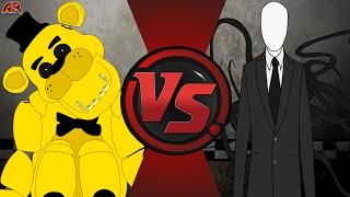 GOLDEN FREDDY vs SLENDERMAN REMATCH! (Slenderman vs Freddy Fazbear 2) Cartoon Fight Club Episode 152