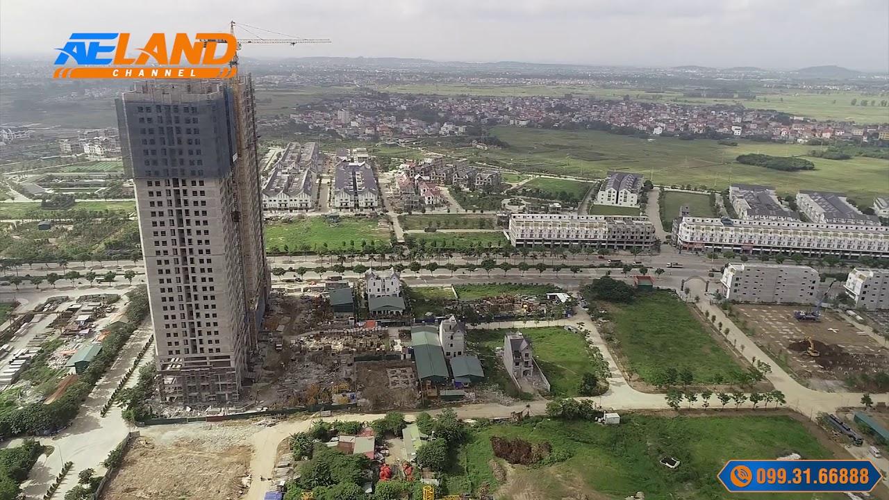 Flycam công trường khu C, D Geleximco Lê Trọng Tấn I AELAND Channel