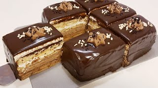 Пирожное без выпечки за15 минут/Duxovkasiz tort,Шоколадный торт