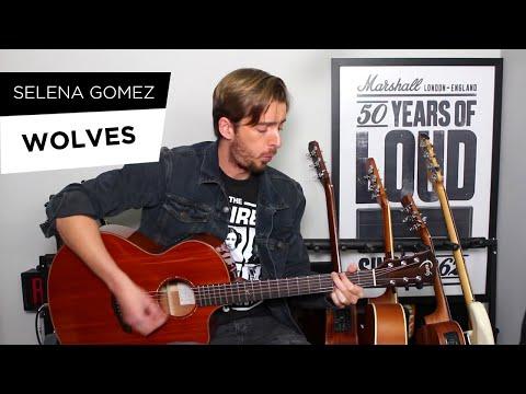 Selena Gomez, Marshmello - Wolves Guitar Lesson/ Tutorial - Fingerstyle