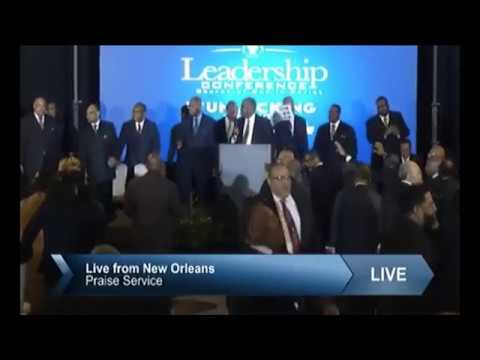 Bishop Jerry Macklin Praise Break at the 2019 COGIC Leadership Conference