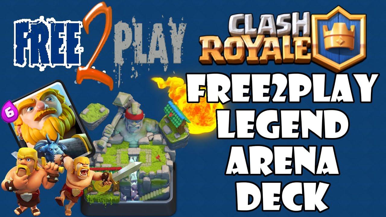 Best f2p arena 7 deck clash royale no legendaries or for Clash royal deck arene 7