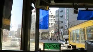 熊本市電通町筋(とおりちょうすじ)から水道町(すいどうちょう)まで