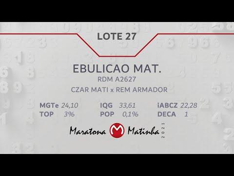 LOTE 27  Maratona Matinha