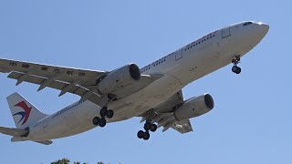 China Eastern Airlines Airbus A330-200 [B-6082] landing at Los Angeles (LAX/KLAX)