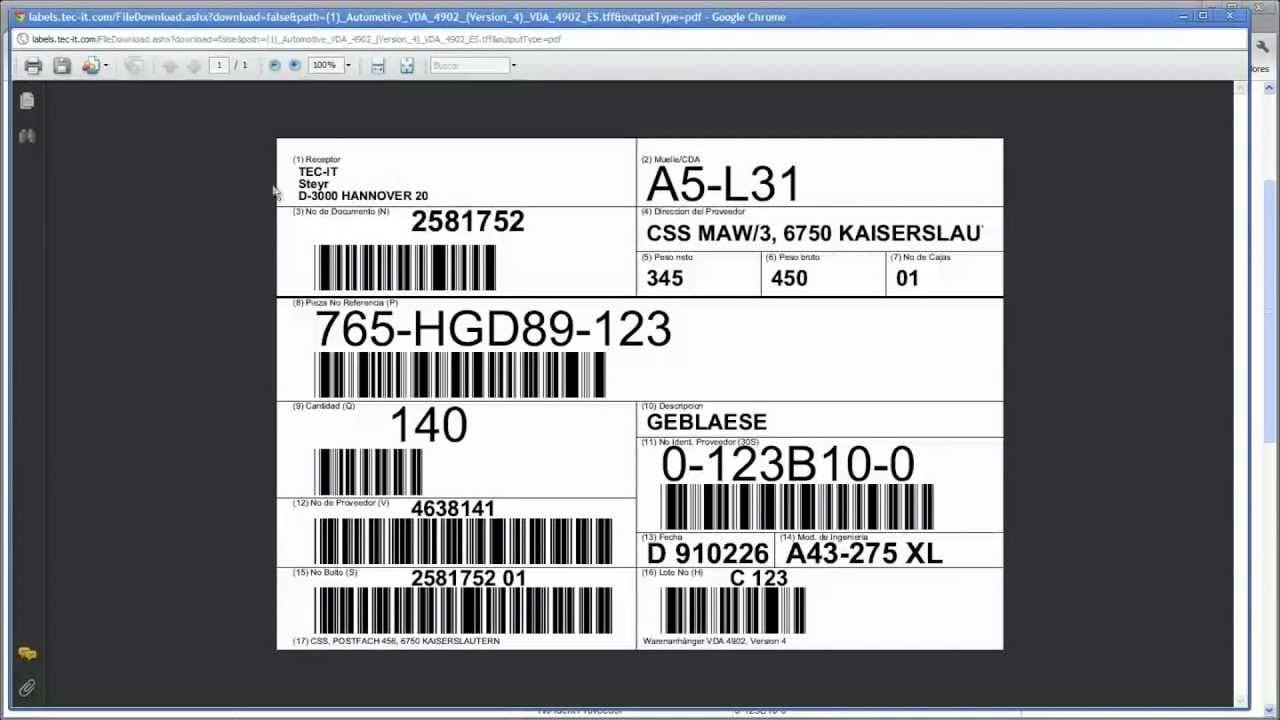 Crear e imprimir etiquetas en cualquier lugar - TFORMer Online - YouTube