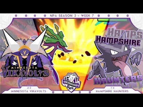 DROP A DRACO!   Minnesota Vikavolts VS Hampshire Haunters Week 7 NPA S3    Pokemon Sun Moon