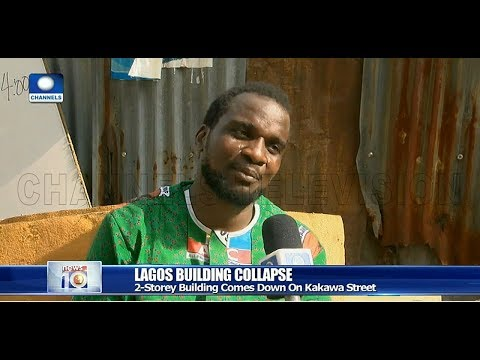Lagos Building Collapse: Man Narrates How He Narrowly Escaped Death