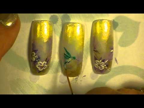 Hummingbird Nail Art By Freeda Latham Youtube