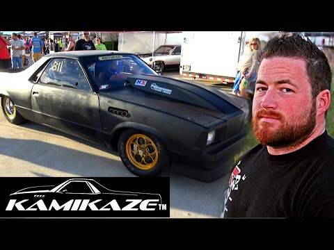 Kamikaze Chris racing his El Camino at Outlaw Armageddon 2016 #StreetOutlaws