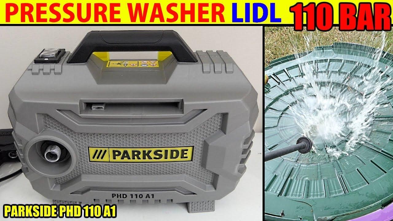 parkside pressure washer lidl phd 110 hochdruckreiniger youtube. Black Bedroom Furniture Sets. Home Design Ideas