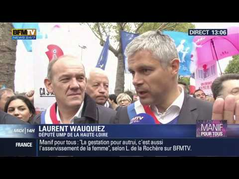 Interview de Laurent Wauquiez sur la Manif Pour Tous (05/10/14, 13h05, BFM TV)