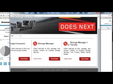 LenovoEMC PX4-300D configuration overview