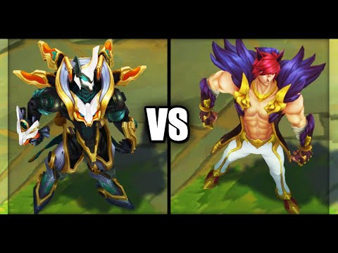 Mecha Kingdoms Sett vs Classic Sett Skins Comparison (League of Legends)