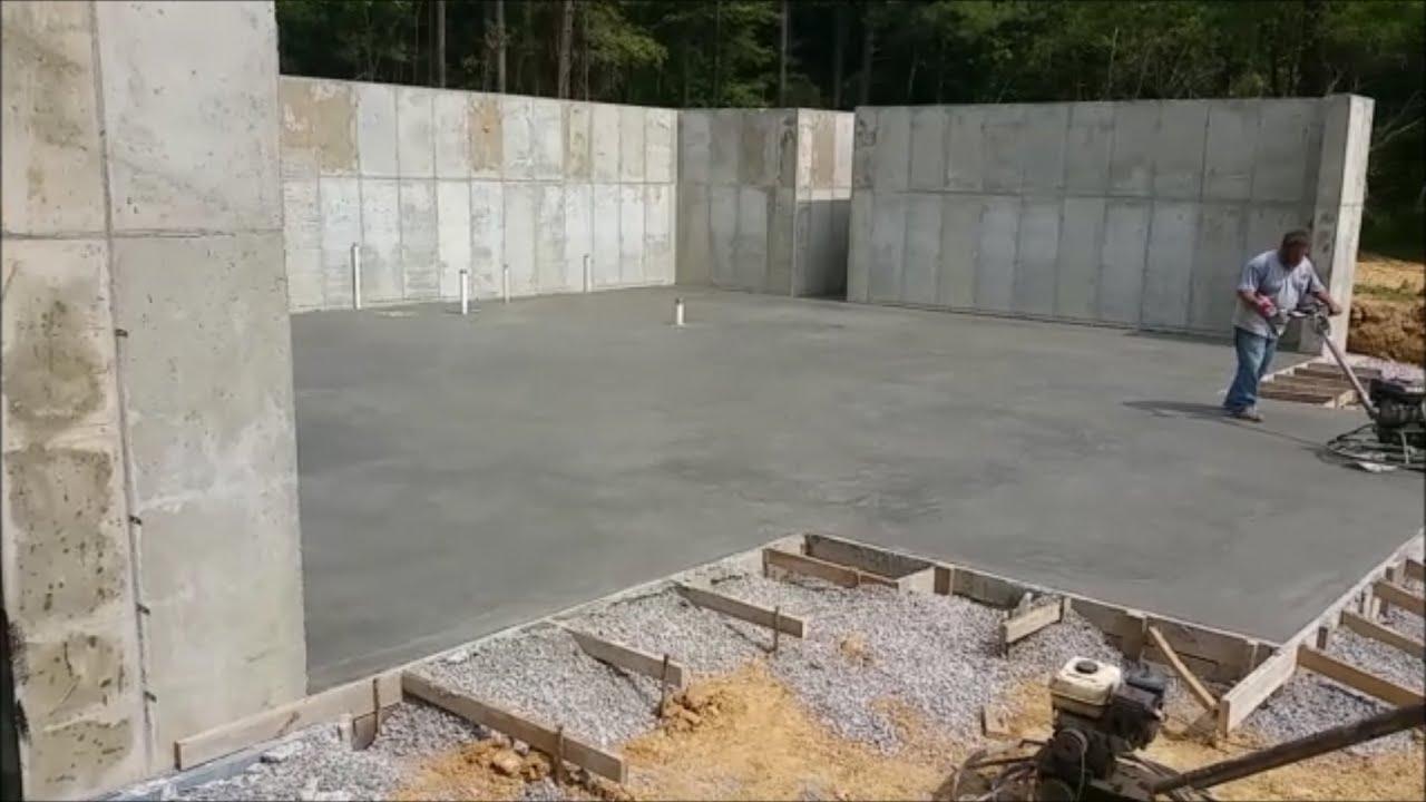 Basement Floor Poured Garage Footers 9 15 16 Youtube