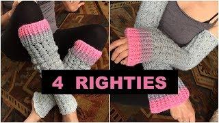 Crochet Leg Warmers Or Arm Warmers - 4 Righties