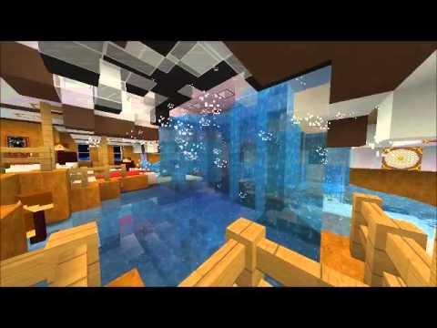 "Minecraft Titanic "" Grand staircase flooding """