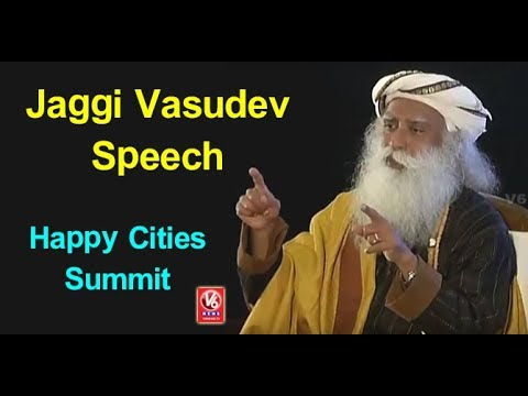 Sadhguru Jaggi Vasudev Excellent Speech At Happy Cities Summit | Amaravati | V6 News