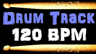 Pop Rock Drum Beat 120 BPM Bass Guitar Practice Tracks 60s Style Track