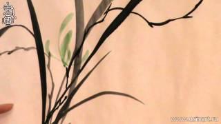 """Уроки по китайской живописи дикая орхидеи 兰花 Урок 8 """"Елена Касьяненко рисует Орхидею """""""