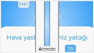Air bed Nedir? Air bed İngilizce Türkçe Anlamı Ne Demek? Telaffuzu Nasıl Okunur? Çeviri Sözlük