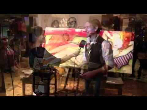 Diego Raimondo pintando en vivo