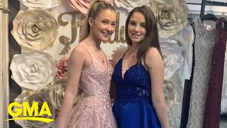This teen celebrated her high school prom at home on TikTok l GMA Digital