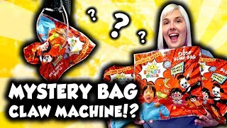 Mystery bag claw machine with mystery plush!