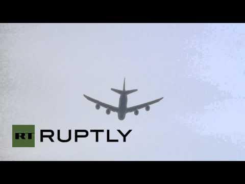 Germany: World Cup winners fly over Berlin Fan Mile