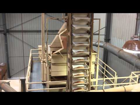 Inside an almond processing facility at Hilltop Ranch
